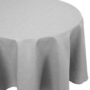 """Luxueux moderne tissé jacquard carreaux noir table nappe 70/"""" rond"""