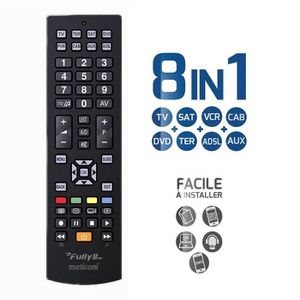 TÉLÉCOMMANDE TV MELICONI FULLY 8 NEW Télécommande universelle 8 en