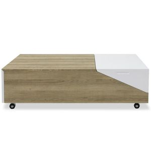 TABLE BASSE Table basse relevable Milou Chêne Clair