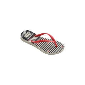 TONG Tongs Blanches et Rouges Slim Havaianas Kids