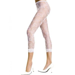 COLLANT SANS PIED Collant Legging blanc dentelle florale 44782d81dcc