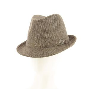 NICOLAS DESCHAMPS - Chapeau borsalino en tweed marron Marron Marron ... a9c3aac2781