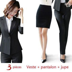 COSTUME - TAILLEUR (Veste + jupe + pantalon)Costume Femme de Marque d