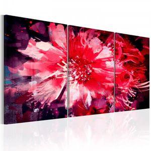 TABLEAU - TOILE taille 60x30 contemporain Tableau multicolore, rou