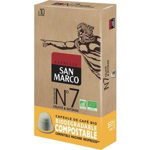 CAFÉ Caps San Marco N° 7 Bio et Compostables x 10