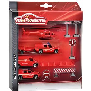VOITURE - CAMION MAJORETTE Sos Playset Gendarmerie/Pompier