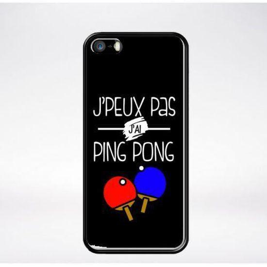 Coque j'peux pas j'ai ping pong 1 compatible iphone 5s bord noir ...