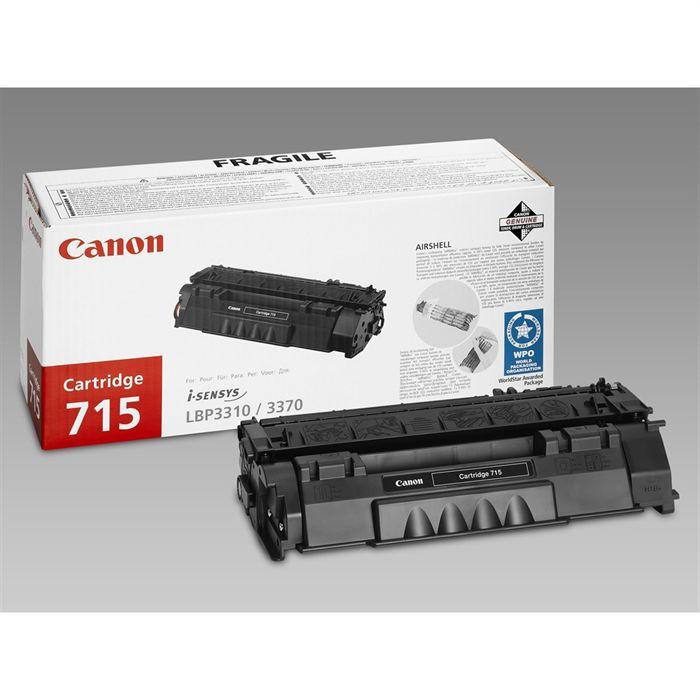 Canon Pack de 1 cartouche de toner Crg 715 Noir capacité standard
