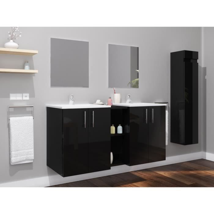 double vasque 100 cm achat vente pas cher. Black Bedroom Furniture Sets. Home Design Ideas