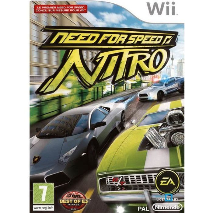 need for speed nitro jeu console nintendo wii achat vente jeux wii need for speed nitro. Black Bedroom Furniture Sets. Home Design Ideas