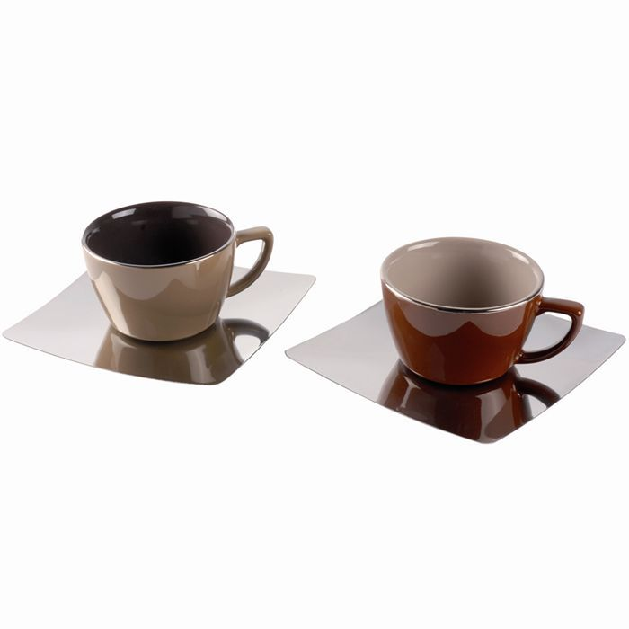 Lot de 2 tasses caf et 2 sous tasses origines achat for 2 sous de table