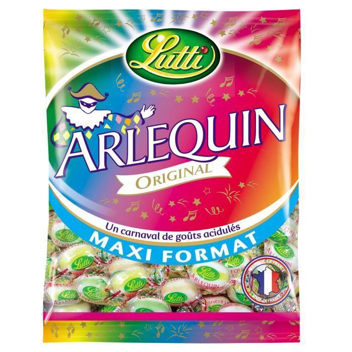 LUTTI Arlequin Bonbons acidulés Original Maxi format - 400 g