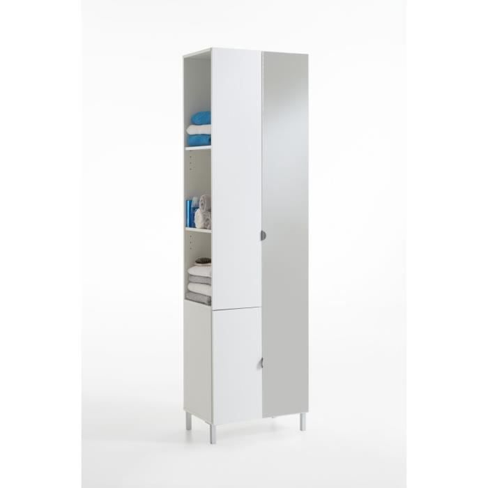 tarragona meuble de salle de bain 55 cm blanc achat vente colonne armoire sdb tarragona. Black Bedroom Furniture Sets. Home Design Ideas