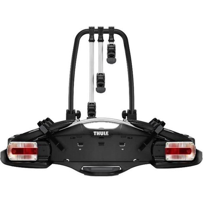Thule VeloCompact 2 7-pin, Porte-vélos léger et compact pour une utilisation au quotidien (pour 3 à 4 vélos)