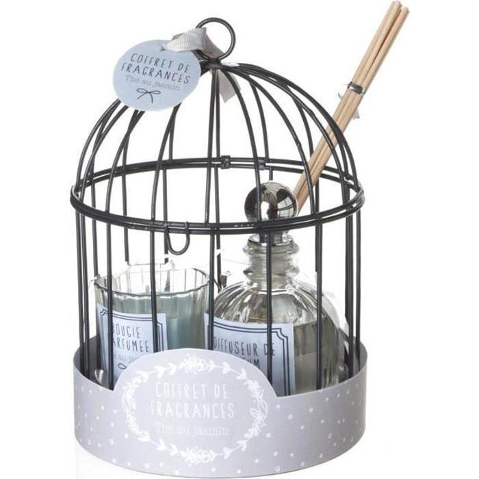 Coffret cage avec diffuseur 100 ml - Thé au Jasmin