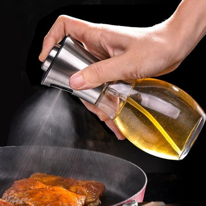 CUISINIÈRE - CUISINE Pulvérisateur d'huile d'olive Cuisson Mister Spray Pump Bouteille en verre Outil de cuisine 200ML yh150