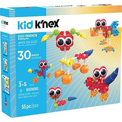 K'nex Kid Zoo Friends Kit de Construction 55 pièces à partir de 3 Ans 85700