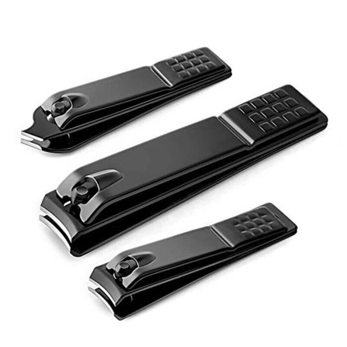 3 Styles Nail Clipper Black Stainless Steel Nails Clipper Cutter Professional Manicure Trimmer High Quality Toe Nail Clippers