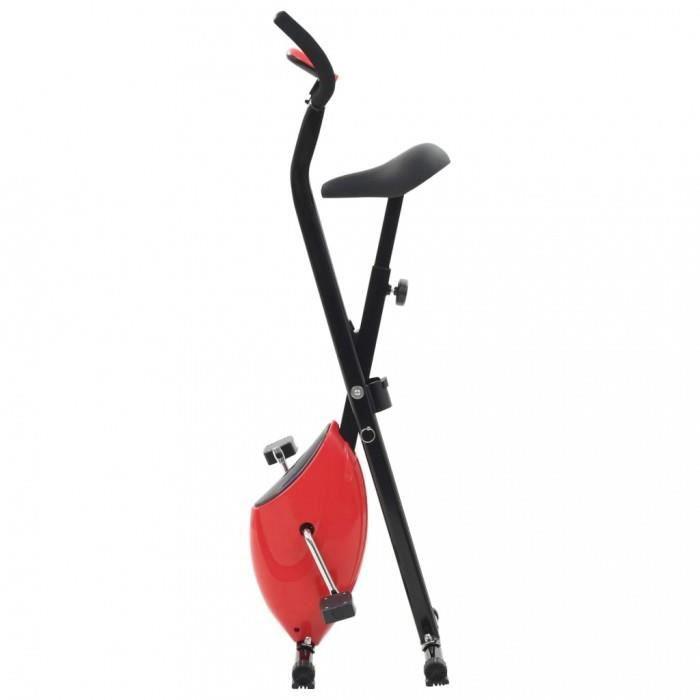 Velos d'appartement vidaXL Velo d'appartement X-Bike Resistance a courroie Rouge