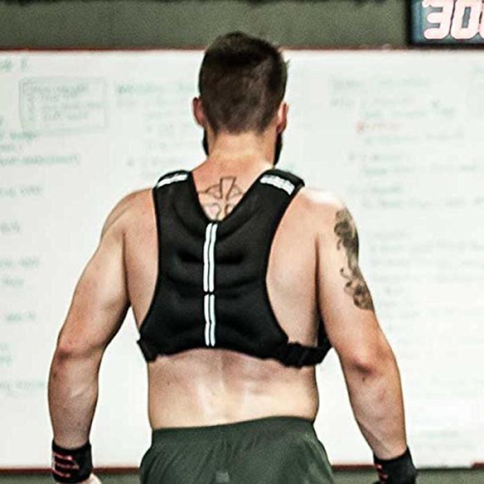 Blouson, Gilet de Musculation, de Fitness Lesté 10 Kg Noir