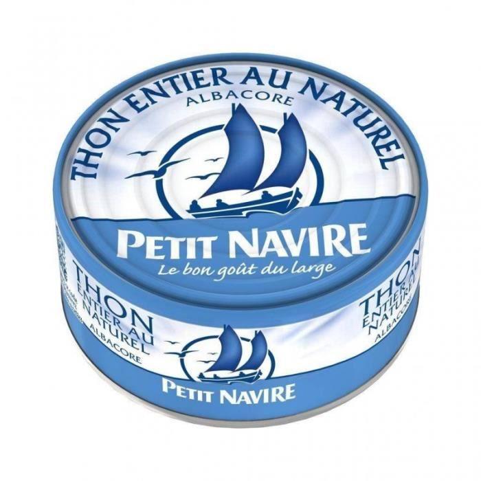 Petit Navire Thon Entier Au Naturel Albacore 190g (lot de 5)