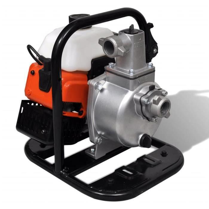 Pompe à eau thermique 2 temps 1,45 kW 0,95 l Pompe à eau à 2 temps à essence 1,45 kW 0,95 L#4736