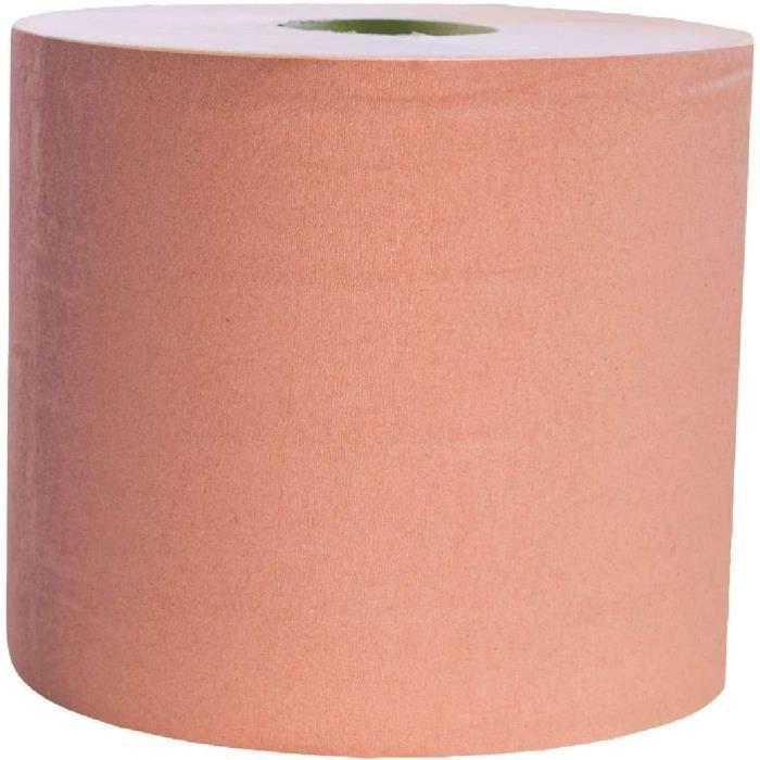 LPM - Bobine Industrielle Chamois Essuyage Papier - 1500 Feuilles - Lot de 2