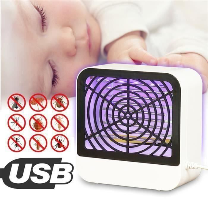 LED UV Lampe Anti Moustiques Électrique Piège Mouche Répulsif Insectes Tueur Bo32545