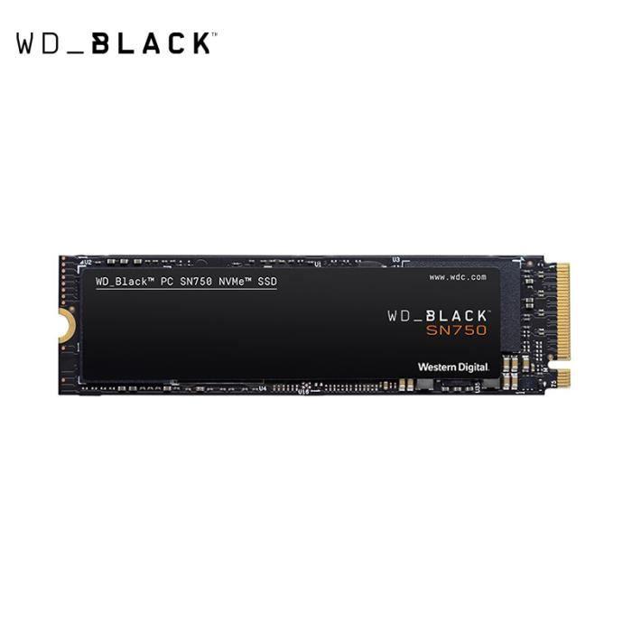 Western Digital SSD noir 2 to PCIe NVME Gen3 * 4 M.2 2280 disque dur interne pour ordinateur portable PC