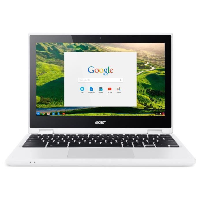 """Acer Chromebook Cb5 132T C8vm Ordinateur 2 en 1 Tactile 11"""" Hd Blanc (Intel Celeron, 4 Go de Ram, Mémoire 32 Go, Intel Hd Graphics,"""