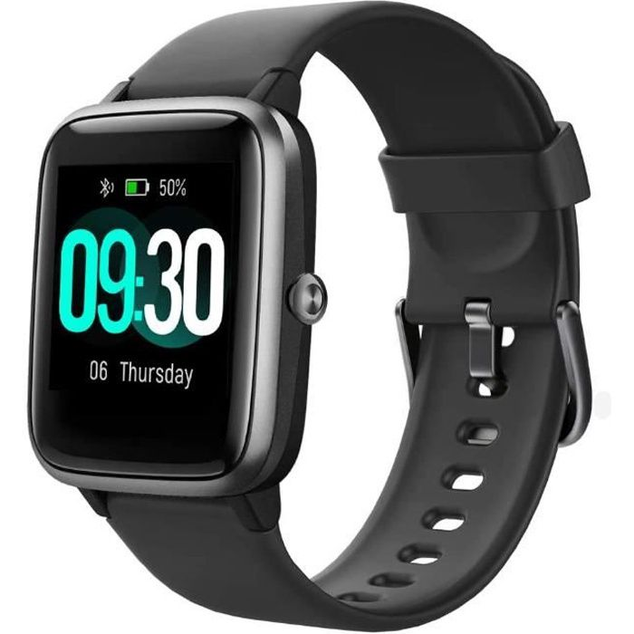 Willful Montre Connectée Homme Femme Smartwatch Compatible Samsung Huawei Xiaomi Android iOS(noir)