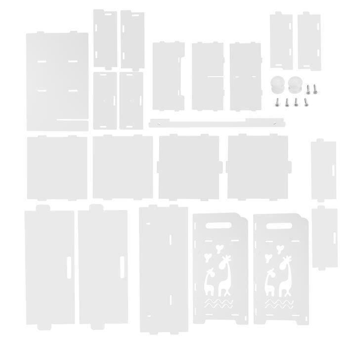 Boîte de Rangement sur Table Support de rangement pour organisateur d'étagère de type support de tiroir Cerf #1 Bo31405