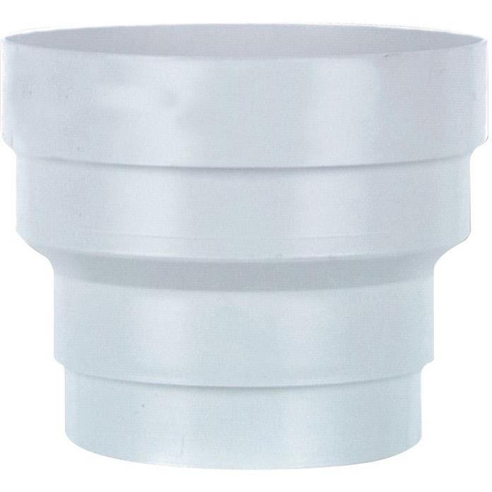 Réduction pvc blanc d.100 à 80mm