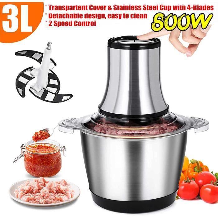 Boyuan Hachoir électrique Grand Hachoir de Robot culinaire 800 W 3 L pour hacher et mélanger Rapidement la Viande et Les [3880]