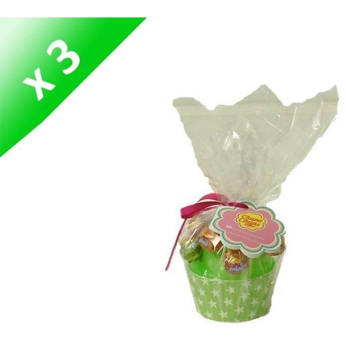 [LOT DE 3] CHUPA CHUPS Cup Cake 10 mini sucettes - 60g
