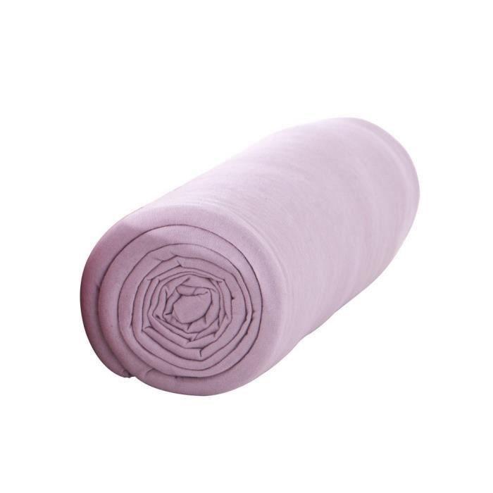 TODAY Drap housse 100% coton - 90 x190 cm - Poudre de lila (Lot de 3)