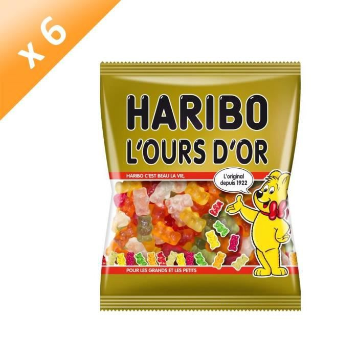[LOT DE 6] Bonbons Ours 300 g Haribo
