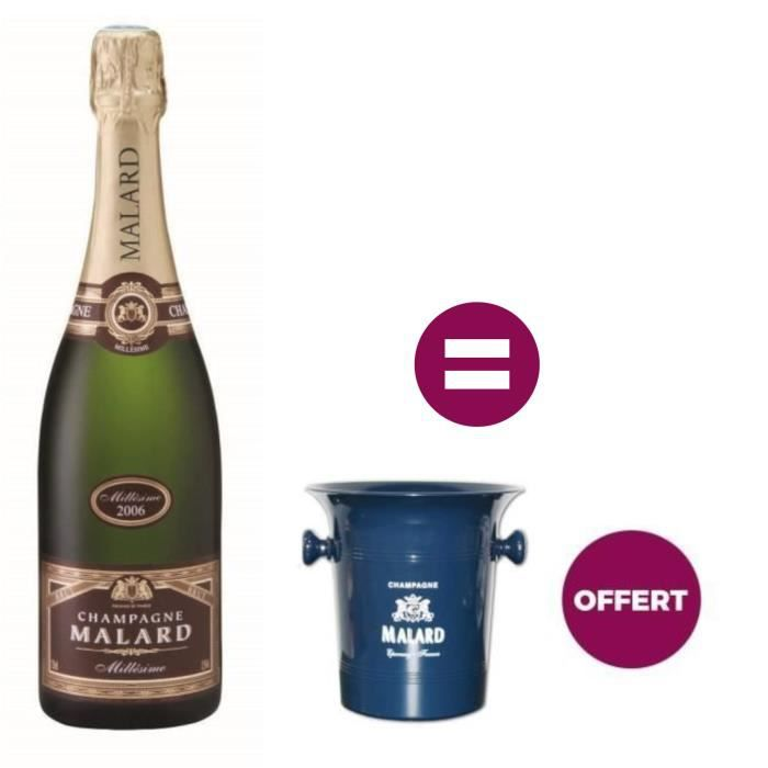 Champagne Malard Millésimé + Seau à glace offert