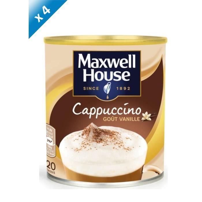 Lot de 4 - Maxwell House Cappucino Vanille Soluble - 305g