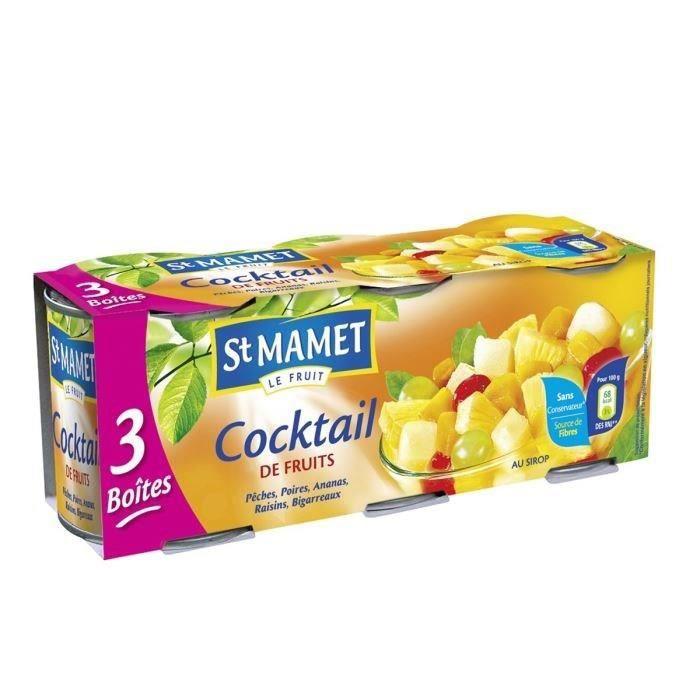 Lot de 3 Cocktails de fruits - 125 g