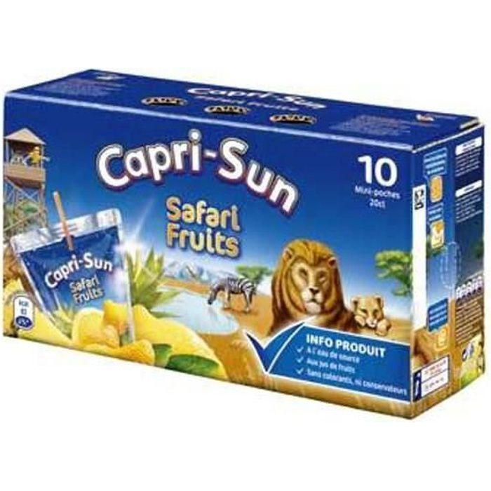 CAPRI-SUN Safari Fruits Poches Nomades 10x20cl