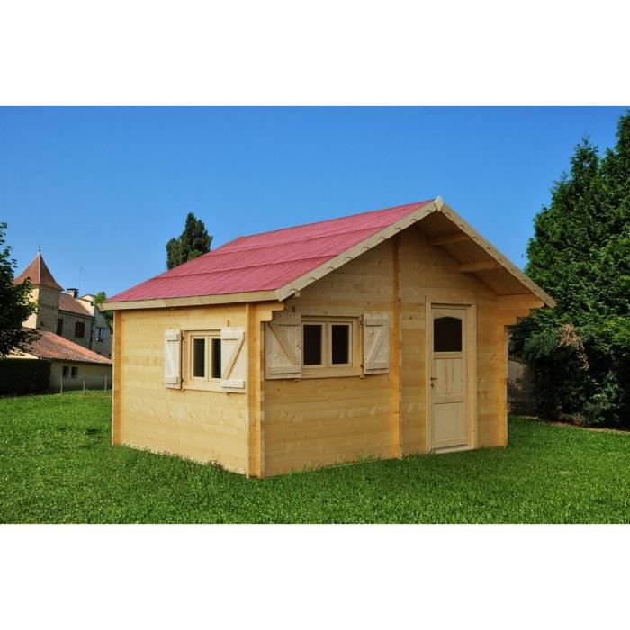 Abri de jardin 24,96m² en bois massif - Double rainurage