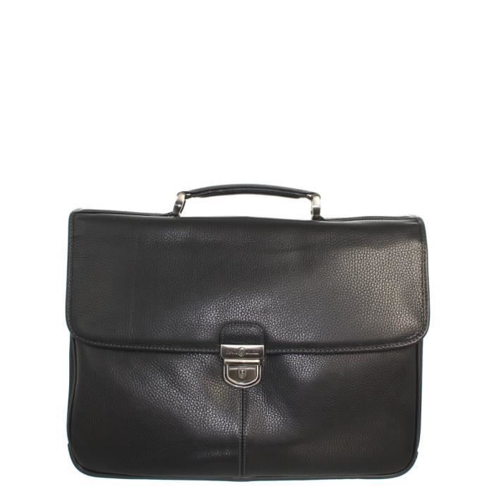 Serviette David William en cuir ref_lhc42530-noir Noir