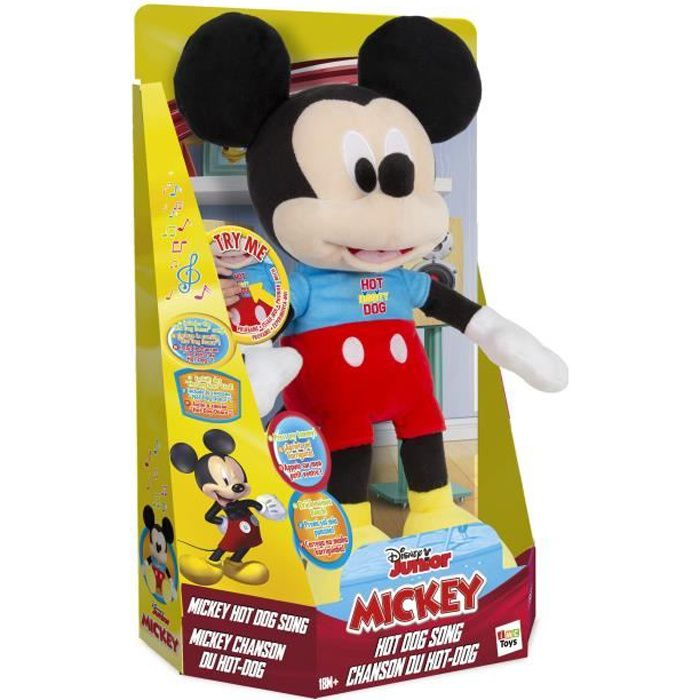 Mickey peluche Hot dog song