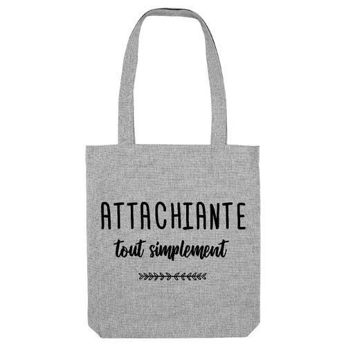 Tote bag - Coton - Gris GS ATTACHIANTE TOUT SIMPLEMENT
