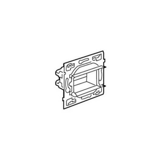 plaque de prise legrand 084800 - mécanisme sagane - obturateur à vis - pour mise en fonction attente - livré sans serre-câble