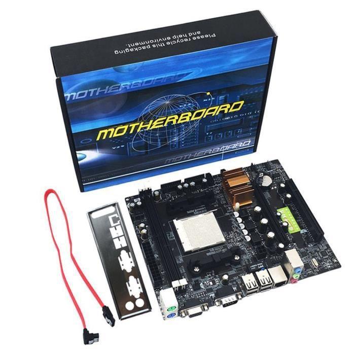 Support carte mère d'ordinateur de bureau N68 C61 pour Am2 Am3 Cpu Ddr2 + Ddr3 mémoire