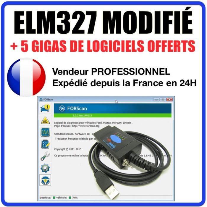 ELM327 USB Modifié compatible avec Ford MS-CAN support CAN-BUS diagnostiquer câble FORSCAN