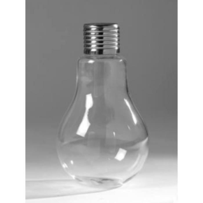 Vase ampoule en verre (H.11cm)