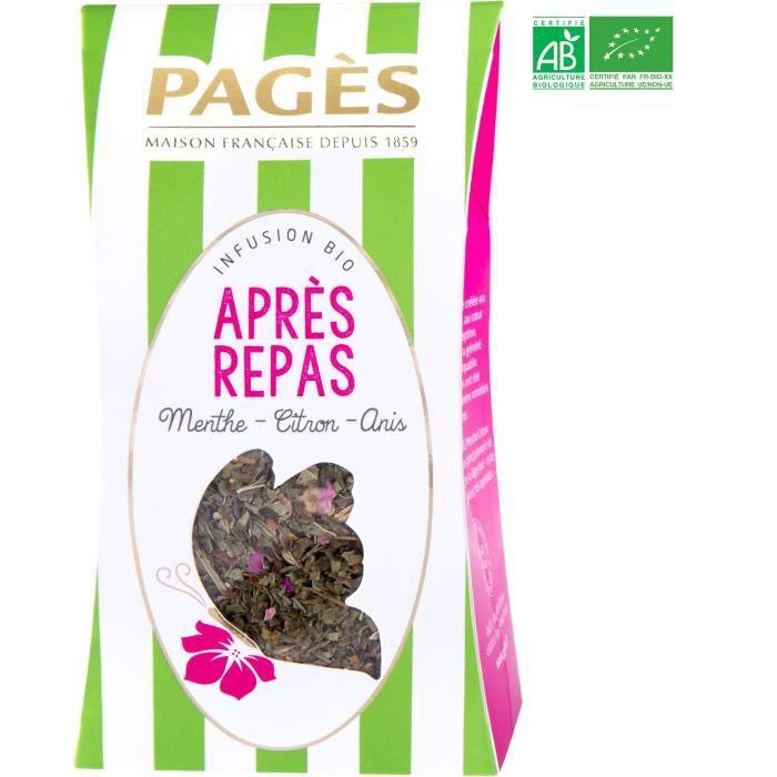 PAGES Infusion Après-Repas - Menthe, Citron, Anis - Vrac - Bio